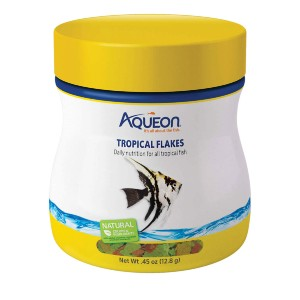 Aqueon Tropical Flakes Freshwater Fish Food - Best Freshwater Angelfish Food: High-Quality Formulation Fish Food