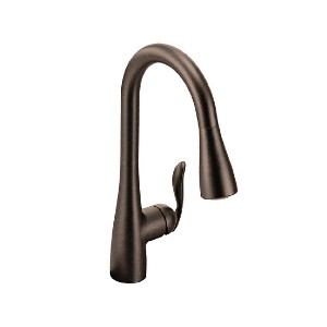 Moen Arbor 7594ORB - Best Pull Down Faucets: Standard Design Mounts on the Sink or Countertop