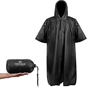 Arcturus Multi-Use Camo Poncho - Best Raincoats for Hot Weather: Packable rain poncho