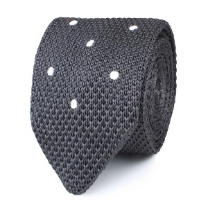 OTAA  Argento Grey Knitted Tie  - Best Ties for Grey Suit: For unrivaled comfort