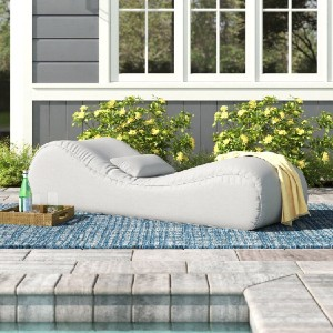 Arlmont & Co. Gemma Chaise Lounge with Cushion - Best Outdoor Chaise Lounge: Unique Sculptural Effect Lounge Chair