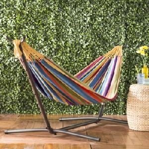 Arlmont & Co. Dorinda Double Classic Hammock with Stand - Best Hammocks Chair for Heavy Person: Universal Double Hammock
