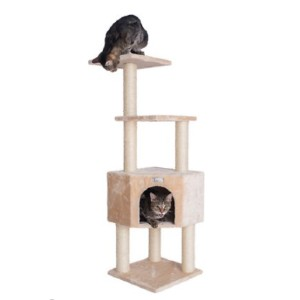 Armarkat GleePet 48-in Faux Fur Cat Tree & Condo - Best Cat Tree for Small Spaces: Durable Cat Tree