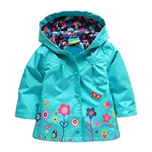Arshiner Girl Baby Kid Outwear Raincoat - Best Raincoats for Toddlers: Cutie floral pattern