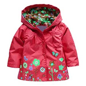 Arshiner Girl Baby Kid Raincoat - Best Raincoats for Toddlers: Lovely floral pattern
