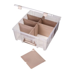ArtBin 6990RK Super Satchel Double Deep - Best Photo Storage Boxes with Dividers: Classy rose gold accents