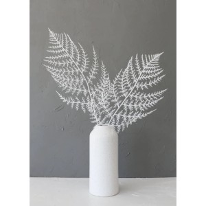 Afloral Fern Leaf Stem in White - Best Artificial Plants for Indoors: Sold Individually