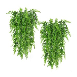 Musdoney Artificial Plants Boston Ferns Fake Vines - Best Artificial Plants on Amazon: Hang it On the Wall