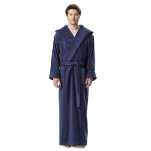 Arus Store Hooded Turkish Cotton Bathrobe - Best Robes for Men: Long Robe with Hood