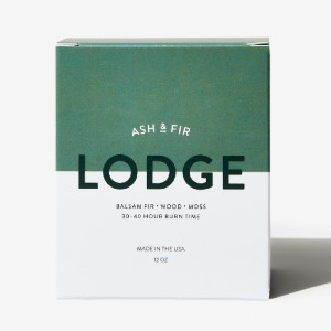 Ash & Fir Lodge Candle - Best Scented Candles for Men: Woodsy Scent