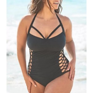 Swimsuits For All Ashley Graham Boss Underwire One Piece Swimsuit - Best Swimwear for Large Busts: Gives you a sexy look