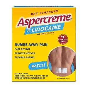 Aspercreme Max Strength - Best Patches for Back Pain: Odor-Free Formula