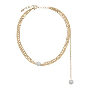 Eloquii Asymmetric Pearl Chain Necklace - Best Jewelry for Plus Size: Best pocket-friendly pick
