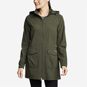 Eddie Bauer Atlas 2.0 Trench Coat - Best Rain Jackets for Alaska: Two-way Front Zip For Comfort Sitting and Moving