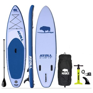 Atoll 11' Foot Inflatable Stand Up Paddle Board - Best Paddle Board for Ocean: Ultralight Stable Paddleboard
