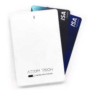 Attom Tech Power Bank Mini - Best Power Banks for Backpacking: Card-Size Power Bank