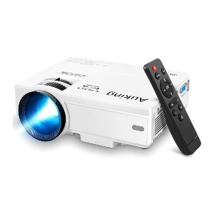 AuKing Mini Projector - Best Projectors on Amazon: Big Screen and Built-in Speakers