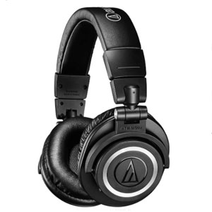Audio Technica ATH-M50XBT Wireless Over-Ear Portable Headphones - Best Wireless Headphone: Headphone with punchy sound signature