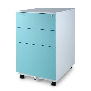 Aurora Fully Assembled Modern Soho Design - Best File Cabinets for Home Office: Stylish Color File Cabinet