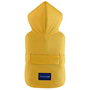 Avanigo Yellow Dog Raincoat with Pockets - Best Raincoats for Corgis: Accessible harness