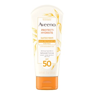 Aveeno Aveeno Protect + Hydrate Sunscreen Lotion - Best Sunscreen Lotion for Face: Sweat-Resistant Sunscreen