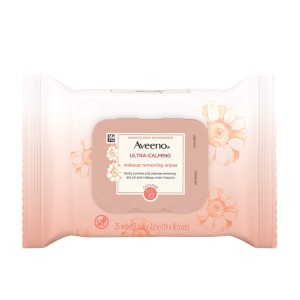 Aveeno Ultra-Calming  - Best Makeup Remover for Sensitive Skin: Non-Comedogenic and Oil-Free Makeup Remover Wipe