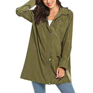 Avoogue Women's Waterproof Rain Jacket - Best Raincoats for Summer: Spacious and quick drying
