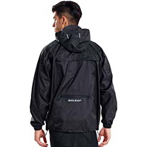 BALEAF Men's Rain Jacket Waterproof  - Best Raincoats for Work: Waterproof and windbreaker raincoat