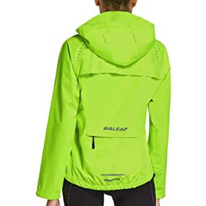 BALEAF Women's Cycling Jackets - Best Raincoats for Cycling: Bright color and breathable