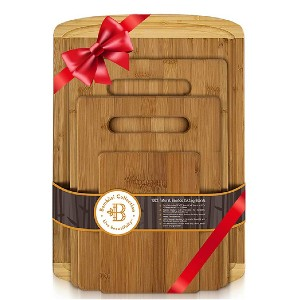 Organic Bamboo Wood BAMBÜSI Bamboo Cutting Board Set - Best Cutting Boards for BBQ: For various needs
