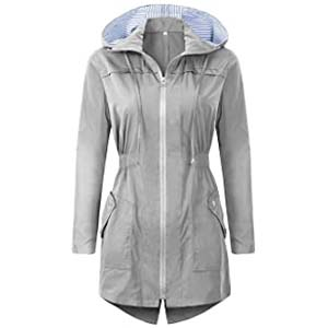 BBX Lephsnt Rain Jacket Women Waterproof with Hood - Best Raincoats for Iceland: Classy and neat