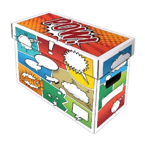 BCW  Art POW! Short Comic Storage Box  - Best Storage Containers for Books: House up to 175 comics