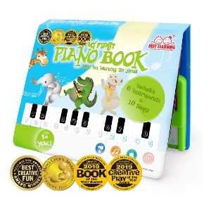 BEST LEARNING My First Piano Book - Best Musical Toys for 4-Year-Olds: Book-sized piano