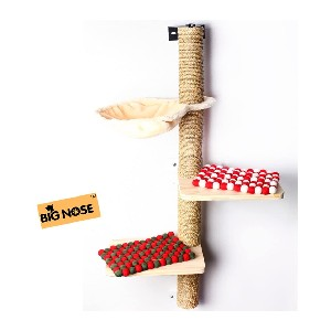 BIG NOSE Wall Mounted Cat Scratching Post  - Best Cat Tree for Small Spaces: Excellent Scratching Post