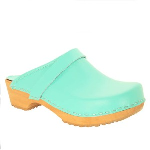 BJORK Swedish Comfort Wood Open Back Leather Clogs - Best Clogs for Wide Feet: Stunning Colors Clogs