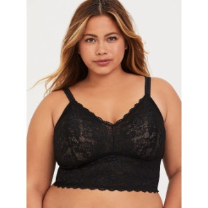 Torrid BLACK LACE BRALETTE - Best Wireless Bras for Big Busts: Semi-Sheer Beauty to Another Level
