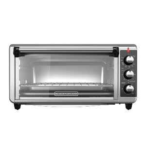 Black+Decker Extra Wide Convection Countertop Toaster Oven - Best Electric Oven for Baking: Large Electric Oven