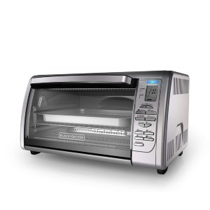 Black+Decker Countertop Convection Toaster Oven - Best Electric Oven for Baking: Electronic Oven with Dual Racks Design