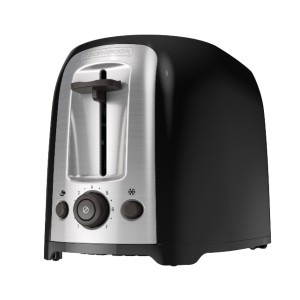 Black+Decker 2-Slice Extra Wide Slot Toaster - Best Toaster for Bread: Toaster with Bagel Function