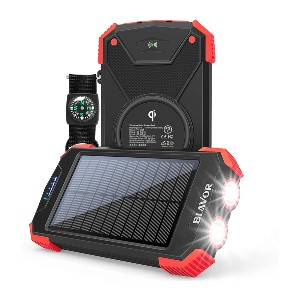 BLAVOR Solar Charger Power Bank - Best Power Banks for Backpacking: Lightweight Power Bank