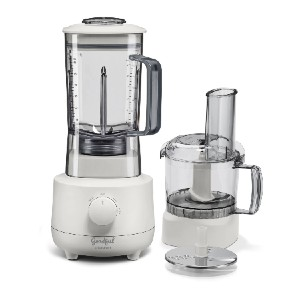 Cuisinart Blender & Food Processor - Best Blender Food Processor Combo: Matte White Finish with Gray Accents