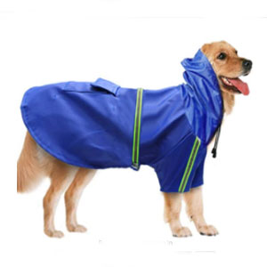 BLEVET Adjustable Waterproof Windproof Dog Hooded Raincoat - Best Raincoats for Dogs: Raincoat with Reflective Fabric
