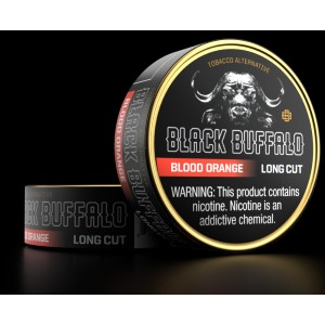 Black Buffalo BLOOD ORANGE LONG CUT - Best Smokeless Tobacco: Rich Citrus with Hints of Raspberry and Smoke