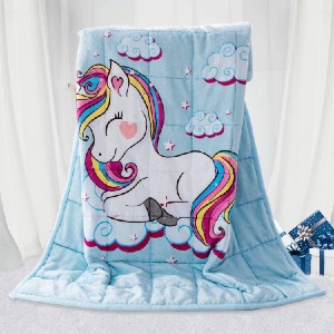 BUZIO Kids Weighted Blanket - Best Weighted Blanket for Kids: Soft Fabric for Added Comfort and Warmth