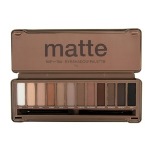 BYS Matte Eyeshadow Palette Tin Collection with Mirror - Best Affordable Eyeshadow Palette: Eyeshadow + Applicator