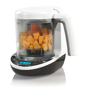 Baby Brezza Small Baby Food Maker Set - Best Blender Baby Food: Cooks and Blends in One Step