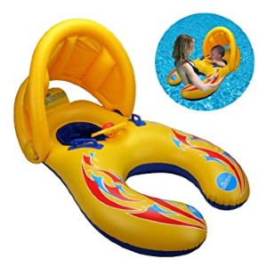 FZAY Kid's Chair Seat Float - Best Floats for Toddlers: Removable canopy