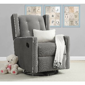Baby Relax  Mikayla Swivel Gliding Recliner - Best Glider Chair for Living Room: Glider with Cushioned Back