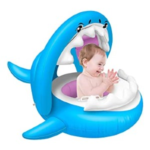 Baichuang Shark Baby Float - Best Floats for Toddlers: Adorable little shark-shaped