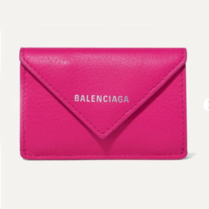 Balenciaga Papier mini printed textured-leather wallet - Best Wallet for Women: Mini wallet